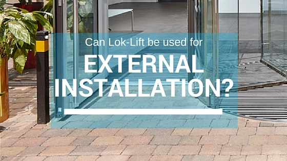 Lok-Lift Dry Adhesive for External Installation