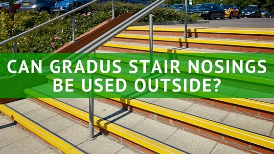 Gradus stair nosings outside
