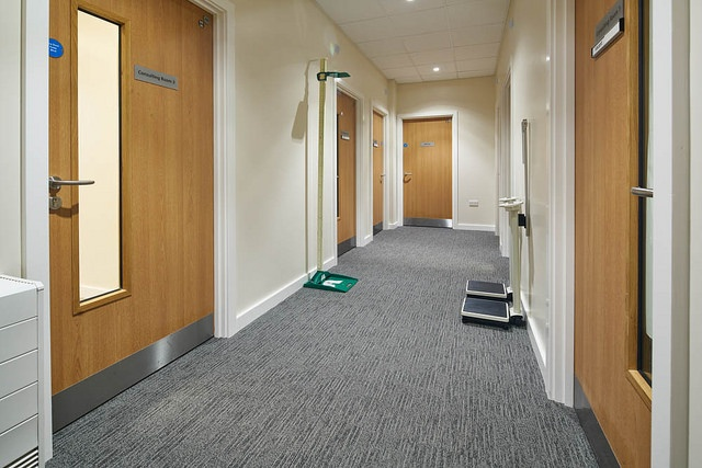 Healthcare Doctor's Office Hallway with Cove Base.jpg