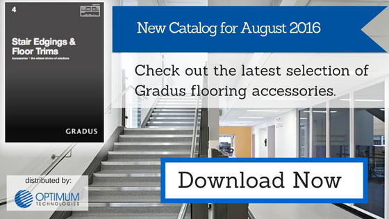 Gradus stair edgings & floor trims digital catalog - August 2016